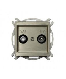 SONATA NOWE SREBRO Gniazdo RTV-SAT końcowe Ref_GPA-RMS/m/44