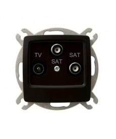 KARO Gniazdo RTV-SAT z dwoma wyjściami SAT Ref_GPA-S2S/m/40