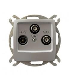KARO Gniazdo RTV-SAT z dwoma wyjściami SAT Ref_GPA-S2S/m/43