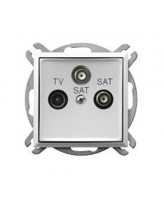 ARIA Gniazdo RTV-SAT z dwoma wyjściami SAT Ref_GPA-U2S/m/00