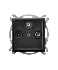 ARIA Gniazdo RTV-SAT z dwoma wyjściami SAT Ref_GPA-U2S/m/33