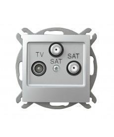 IMPRESJA Gniazdo RTV-SAT z dwoma wyjściami SAT Ref_GPA-Y2S/m/18