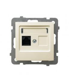 AS Gniazdo komputerowe pojedyncze, kat. 5e MMC Ref_GPK-1G/K/m/27