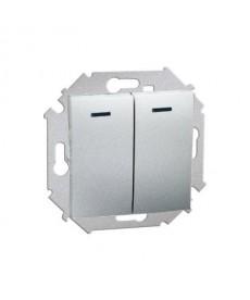 Łącznik świecznikowy (moduł) z podśw 16ax 250v alu 1591392-026 simo