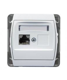 GAZELA Gniazdo komputerowe pojedyncze, kat. 6 MMC Ref_GPK-1J/K6/m/00