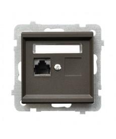 SONATA Gniazdo komputerowe pojedyncze, kat. 5e MMC Ref_GPK-1R/K/m/40