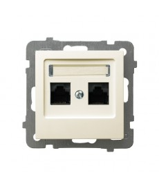 AS Gniazdo komputerowe podwójne, kat. 5e MMC Ref_GPK-2G/K/m/27