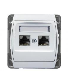 GAZELA Gniazdo komputerowe podwójne, kat. 5e MMC Ref_GPK-2J/K/m/00