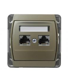 GAZELA Gniazdo komputerowe podwójne, kat. 6 ekranowane MMC Ref_GPK-2J/K6E/m/16/16