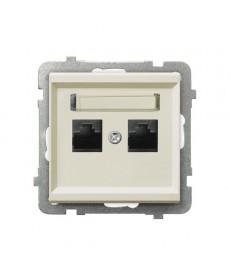 SONATA Gniazdo komputerowe podwójne, kat. 5e MMC Ref_GPK-2R/K/m/27