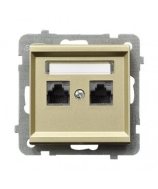 SONATA Gniazdo komputerowe podwójne, kat. 5e MMC Ref_GPK-2R/K/m/39