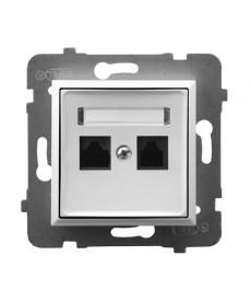 ARIA Gniazdo komputerowe podwójne, kat. 5e MMC Ref_GPK-2U/K/m/00