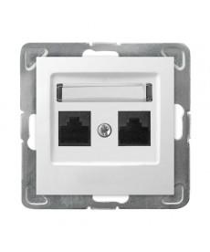 IMPRESJA Gniazdo komputerowe podwójne, kat. 5e MMC Ref_GPK-2Y/K/m/00