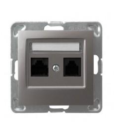 IMPRESJA Gniazdo komputerowe podwójne, kat. 5e MMC Ref_GPK-2Y/K/m/23