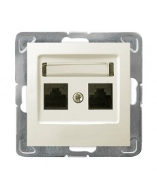 IMPRESJA Gniazdo komputerowe podwójne, kat. 5e MMC Ref_GPK-2Y/K/m/27