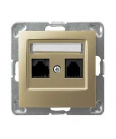 IMPRESJA Gniazdo komputerowe podwójne, kat. 5e MMC Ref_GPK-2Y/K/m/28