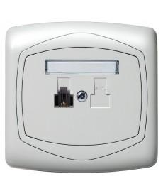 TON COLOR SYSTEM Gniazdo telefoniczne pojedyncze Ref_GPT-1C/m/00