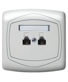 TON COLOR SYSTEM Gniazdo telefoniczne podwójne niezależne Ref_GPT-2CN/m/00