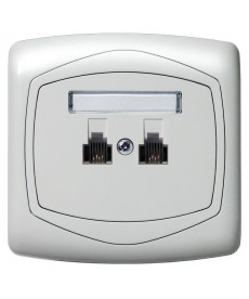 TON COLOR SYSTEM Gniazdo telefoniczne podwójne równoległe Ref_GPT-2CR/m/00