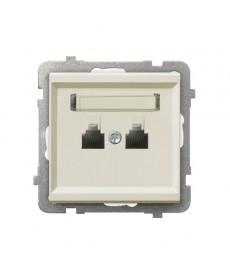 SONATA Gniazdo telefoniczne podwójne równoległe Ref_GPT-2RR/m/27