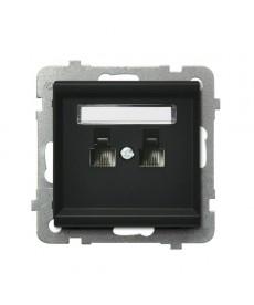 SONATA Gniazdo telefoniczne podwójne równoległe Ref_GPT-2RR/m/33