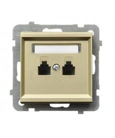 SONATA Gniazdo telefoniczne podwójne równoległe Ref_GPT-2RR/m/39