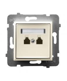 ARIA Gniazdo telefoniczne podwójne niezależne Ref_GPT-2UN/m/27