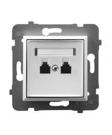 ARIA Gniazdo telefoniczne podwójne równoległe Ref_GPT-2UR/m/00
