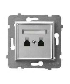 ARIA Gniazdo telefoniczne podwójne równoległe Ref_GPT-2UR/m/18