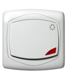 """TON COLOR SYSTEM Łącznik zwierny """"światło"""" z podświetleniem pomarańczowym Ref_ŁP-5CS/m/00"""