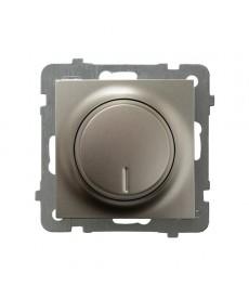 AS Ściemniacz przyciskowo-obrotowy przystosowany do obciążenia żarowego i halogenowego Ref_ŁP-8G/m/45