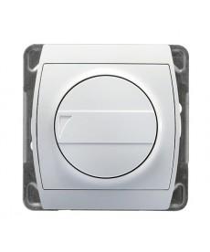 GAZELA Ściemniacz przyciskowo-obrotowy przystosowany do obciążenia żarowego i halogenowego Ref_ŁP-8JB/m/00
