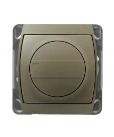 GAZELA Ściemniacz przyciskowo-obrotowy przystosowany do obciążenia żarowego i halogenowego Ref_ŁP-8JB/m/16/16
