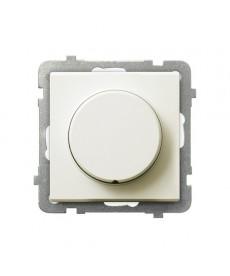 SONATA Ściemniacz przyciskowo-obrotowy przystosowany do obciążenia żarowego i halogenowego Ref_ŁP-8R/m/27