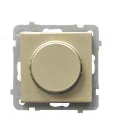 SONATA Ściemniacz przyciskowo-obrotowy przystosowany do obciążenia żarowego i halogenowego Ref_ŁP-8R/m/39