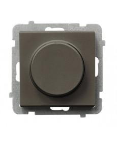 SONATA Ściemniacz przyciskowo-obrotowy przystosowany do obciążenia żarowego i halogenowego Ref_ŁP-8R/m/40