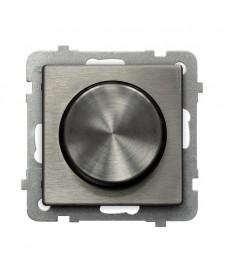 SONATA STAL INOX Ściemniacz przyciskowo-obrotowy przystosowany do obciążenia żarowego i halogenowego Ref_ŁP-8RM/m/37