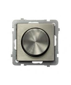 SONATA NOWE SREBRO Ściemniacz przyciskowo-obrotowy przystosowany do obciążenia żarowego i halogenowego Ref_ŁP-8RM/m/44