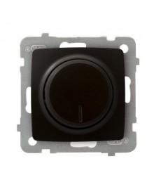 KARO Ściemniacz przyciskowo-obrotowy przystosowany do obciążenia żarowego i halogenowego Ref_ŁP-8S/m/40