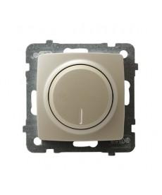 KARO Ściemniacz przyciskowo-obrotowy przystosowany do obciążenia żarowego i halogenowego Ref_ŁP-8S/m/42
