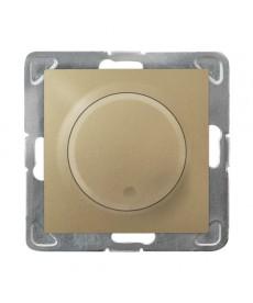 IMPRESJA Ściemniacz przyciskowo-obrotowy przystosowany do obciążenia żarowego i halogenowego Ref_ŁP-8Y/m/28