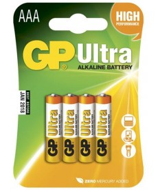 BATERIA LR3 AAA BLISTER-4 ULTRA ALKALINE GP BATTERY 24AU-U4