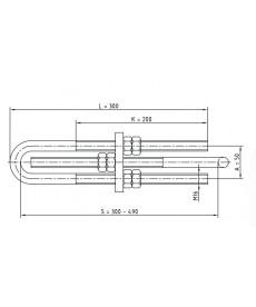 Uchwyt łącznik odciągowy excel so-155.1 ensto