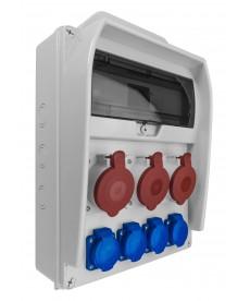 ROZDZIELNICA R-BOX 380R 13S, 3X32A/5P, 4X250V, PUSTE OKNO PAWBOL B.18.380-3