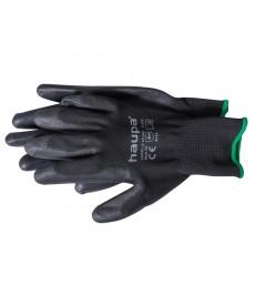Rekawice z tkaniny poliuretanowej czarne rozm 7