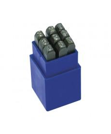 Cyfry do nabijania 4mm 0-9