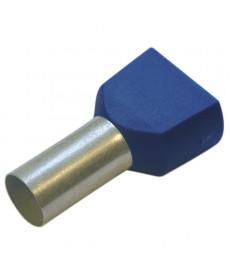 Twin -koncówki tulejkowe 2,5/10 niebieskie