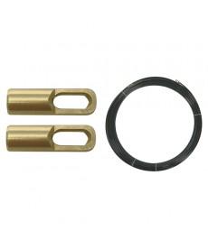 Tasma perlonowa do przeciagania przewodów z PE 3mm z 2 oczkami czarna