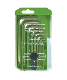 Zestaw kluczy imbusowych z grotem kul. 8-elem.