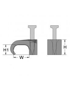 Uchwyt mocujacy flop 9x18 szary